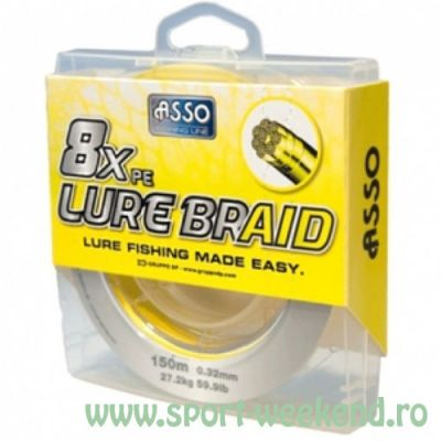 Asso - Fir 8xPE Lure Braid Yellow 0,18mm - 150m - 13,8kg