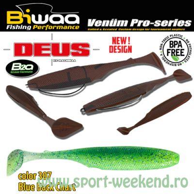 "Biwaa - Shad Deus 3"" 7.5cm - cul. 307 Blue Black Chartreuse"