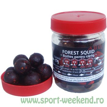 Dudi Bait - Boilies de carlig Forest Squid Solubile - Caramele 16mm