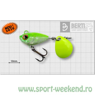 Berti - Spinnertail Fishelic Colorado Chartreuse nr.3 /14g - White-Chartreuse