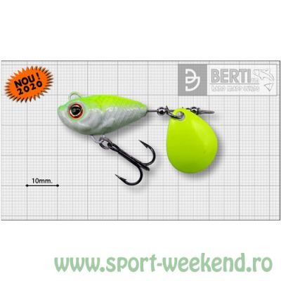 Berti - Spinnertail Fishelic Colorado Chartreuse nr.4 /17g - White-Chartreuse