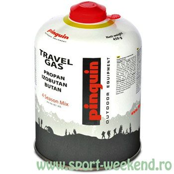 Pinguin - Butelie cu valva Travel Gas 450 g