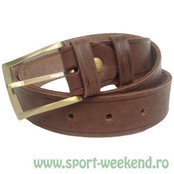 Tapel - Curea pantaloni piele ciocolatiu - 125cm