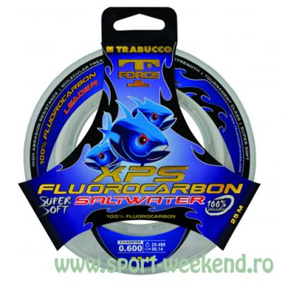 Trabucco - Fir T-Force XPS Fluorocarbon Saltwater 0,37mm - 10,97kg - 50m