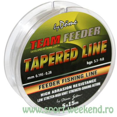 By Döme - Fir Inaintas Conic TEAM Feeder Tapered Leader 0,165mm - 0,22mm