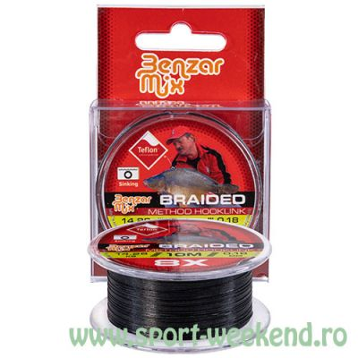 Benzar Mix - Fir textil Braided Method Hooklink 0,10mm - 10m - 6,14 kg