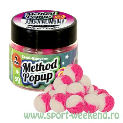Benzar Mix - Bicolor Method Pop-Up 7mm Usturoi-Squid