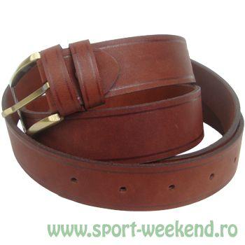 Tapel - Curea pantaloni piele maro roscat - 230cm