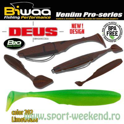 """Biwaa - Shad Deus 3"""" 7.5cm - cul. 202 Limetreuse"""