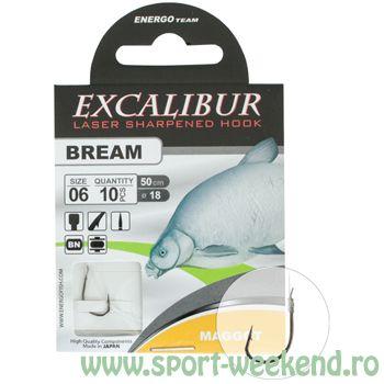 EnergoTeam - Carlige legate Excalibur Bream Maggot nr.10