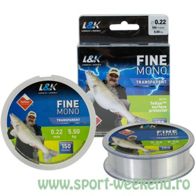 EnergoTeam - Fir L&K Fine Mono Transparent 0,20mm - 150m - 4,5kg