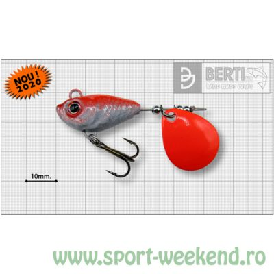 Berti - Spinnertail Fishelic Colorado Orange nr.3 /14g - Red Back