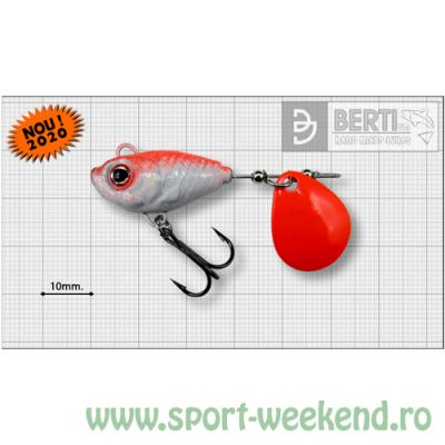Berti - Spinnertail Fishelic Colorado Orange nr.4 /17g - Red Back