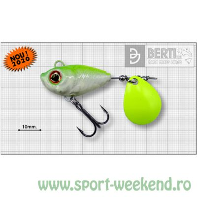 Berti - Spinnertail Fishelic Colorado Chartreuse nr.5 /21g - White-Chartreuse