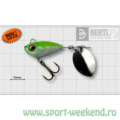 Berti - Spinnertail Fishelic Olympic nr.3 /14g - White-Chartreuse