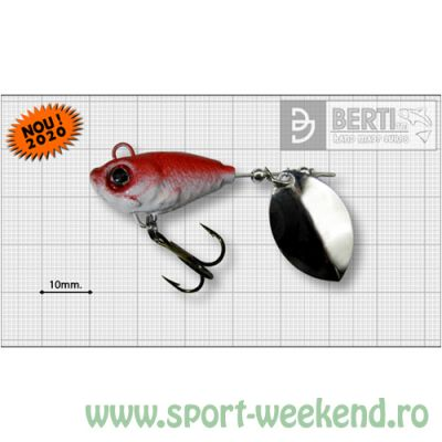 Berti - Spinnertail Fishelic Olympic nr.3 /14g - Red Back