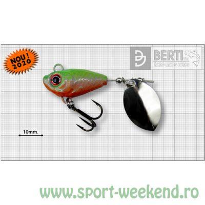 Berti - Spinnertail Fishelic Olympic nr.3 /14g - Orange Chartreuse
