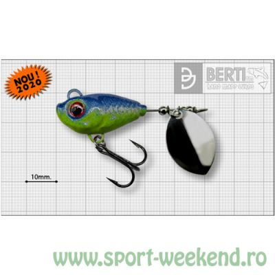 Berti - Spinnertail Fishelic Olympic nr.4 /17g - Blue-Chatreuse