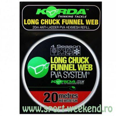 Korda - Rezerva plasa PVA Long Chuk Funnel Web Hexmesh