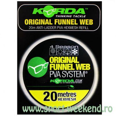Korda - Rezerva plasa PVA Original Funnel Web Hexmesh