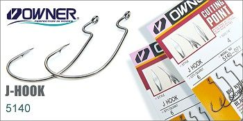 Owner - Carlige Jig J Hook 5140 nr. 3/0 (5buc/plic)
