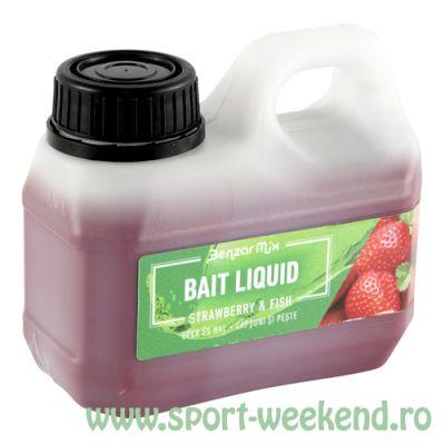 Benzar Mix - Aroma Bait Liquid 500ml - Capsuni si Peste