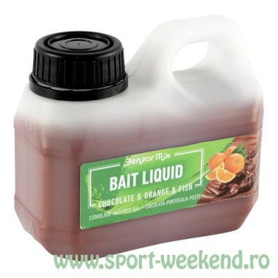 Benzar Mix - Aroma Bait Liquid 500ml - Orange & Fish