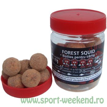 Dudi Bait - Boilies de carlig Forest Squid Solubile - Glazurate 16mm