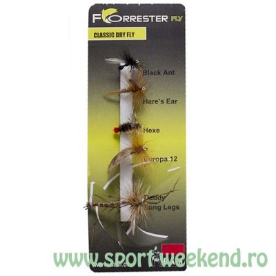 DAM - Muste Forrester Classic Dry Flies